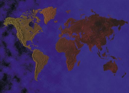 Stock Photo: 1491R-1015259 World map