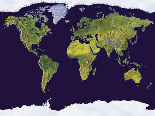 Stock Photo: 1491R-1015342 Map of the World