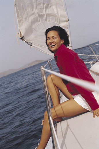 Stock Photo: 1491R-1015964 Woman on Yacht