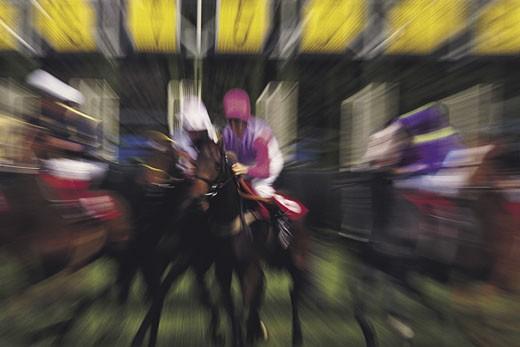Stock Photo: 1491R-1016458 Horse Race