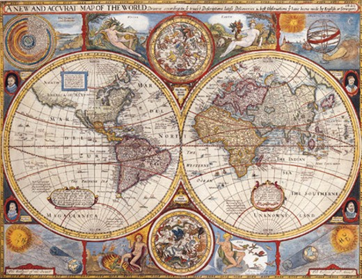 Stock Photo: 1491R-1016939 Map of the World