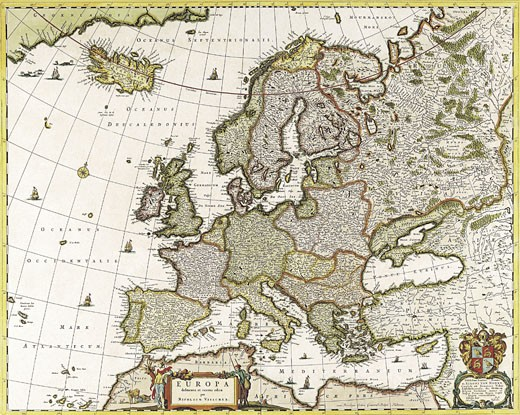 Stock Photo: 1491R-1016954 Map of Europe