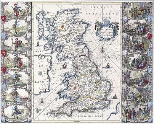 Map of British Isles : Stock Photo