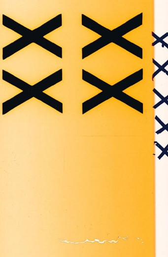 X's on yellow background : Stock Photo