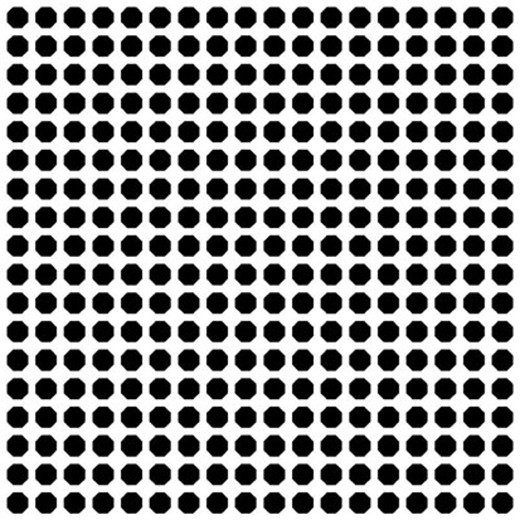 Checkered pattern of black octagons on white background : Stock Photo