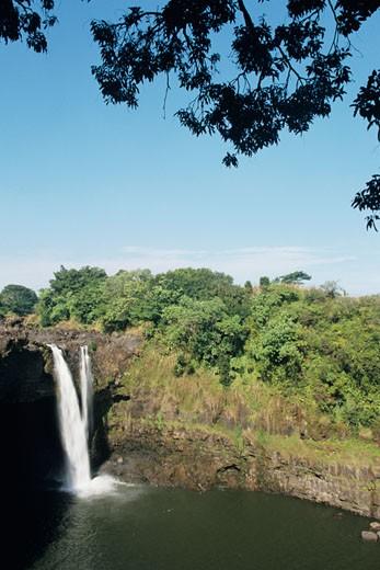 Stock Photo: 1491R-1021355 Rainbow Falls, Hawaii, HI, USA