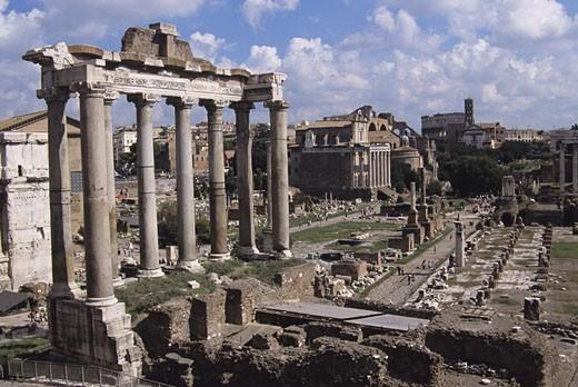 Stock Photo: 1491R-1022357 Roman Forum, Rome, Italy
