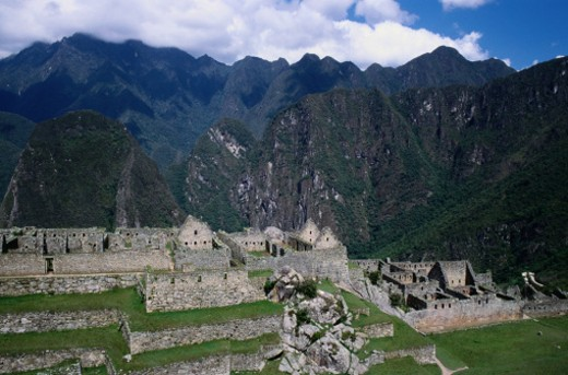 Stock Photo: 1491R-1031245 Prison Area at Machu Picchu in Peru