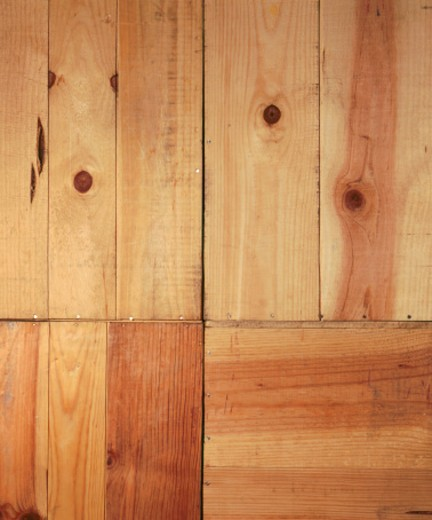 Four sections of wood paneling : Stock Photo