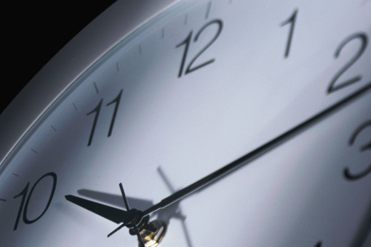 Partial view of clock : Stock Photo