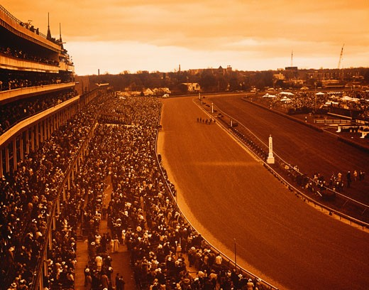 Stock Photo: 1491R-1034640 Horse racing track