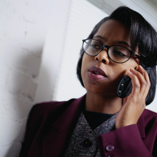 Businesswoman on Cellular Phone : Stock Photo