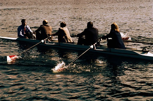 Stock Photo: 1491R-1037790 Businesspeople Rowing