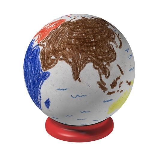 Child's Rendition of a Globe : Stock Photo