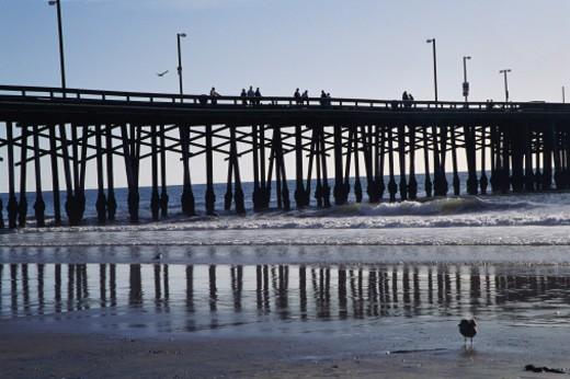 Stock Photo: 1491R-1039366 Newport Beach Pier, California
