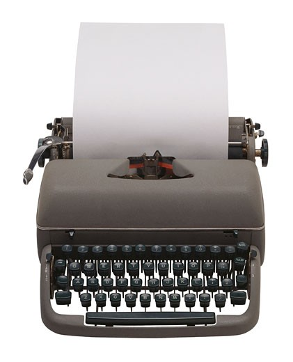 Stock Photo: 1491R-1040144 Front view of manual typewriter