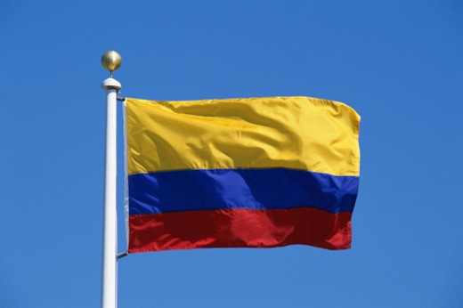 Colombian Flag : Stock Photo