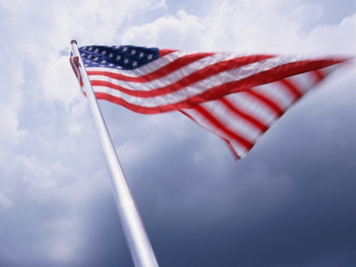 Stock Photo: 1491R-1043201 Flag of United States of America