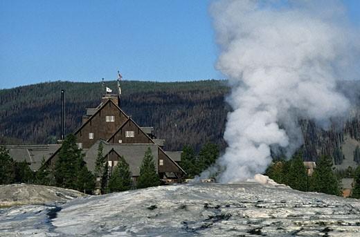 USA, Wyoming, Yellowstone National Park, Old Faithful : Stock Photo