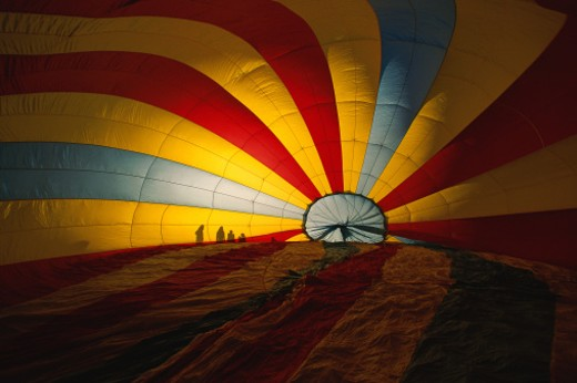 Inside of hot air balloon : Stock Photo