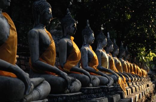 Stock Photo: 1491R-1046984 Ayutthaya, Thailand -- Wat Yai Chai Mongkol Buddha