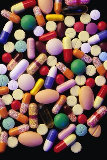 Variety of pills : Stock Photo