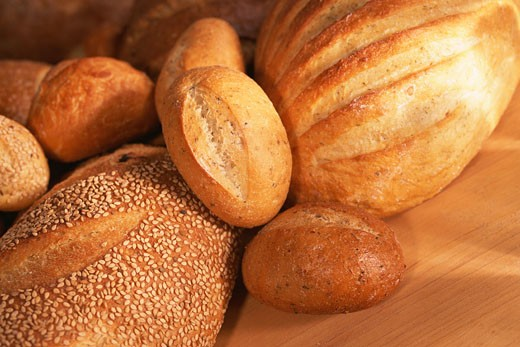 Stock Photo: 1491R-1060611 Assortment of bread loaves
