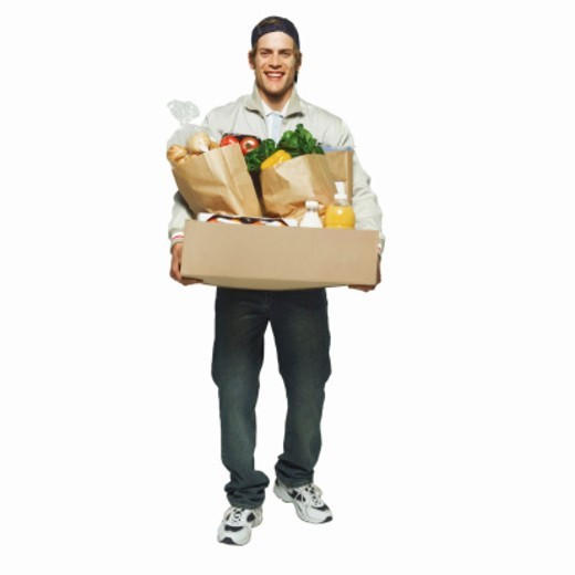 Stock Photo: 1491R-1064022 Portrait of a delivery-man