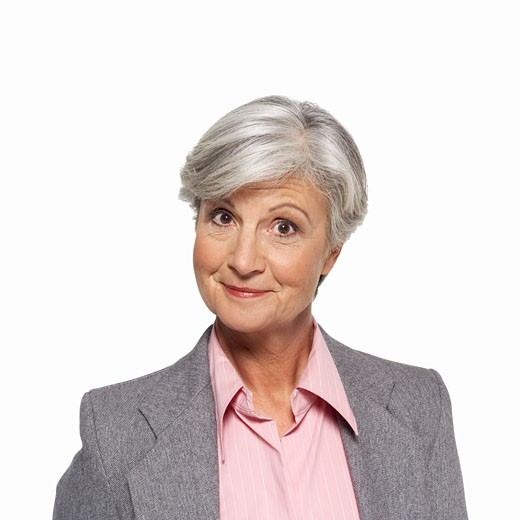 Stock Photo: 1491R-1064695 Front view portrait of mature woman