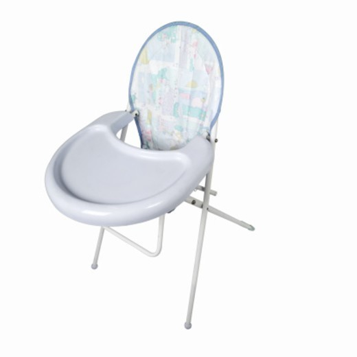 Elevated view of a baby highchair : Stock Photo