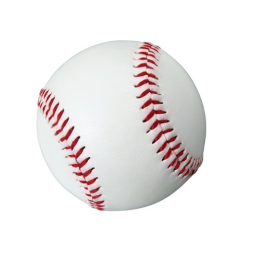 Close up of an American baseball ball : Stock Photo