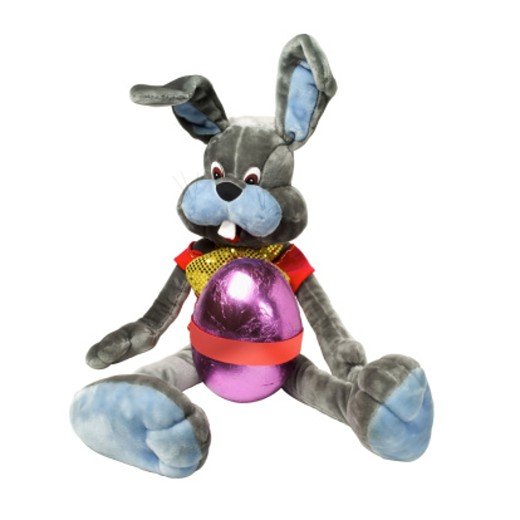Close up of a teddy bear and an Easter egg attached : Stock Photo