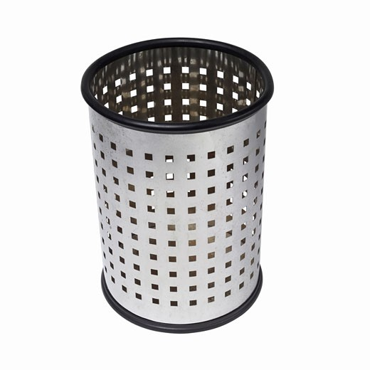 Elevated view of a wastepaper basket : Stock Photo