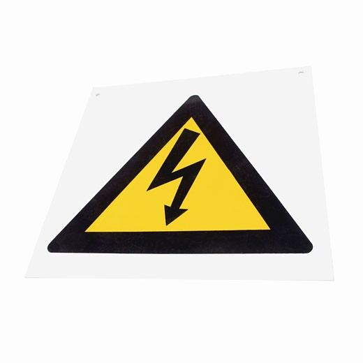 Stock Photo: 1491R-1066771 Close up of a danger sign