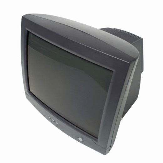 Close-up of computer monitor : Stock Photo