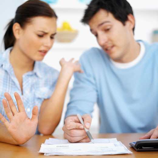 Couple doing their personal finances : Stock Photo