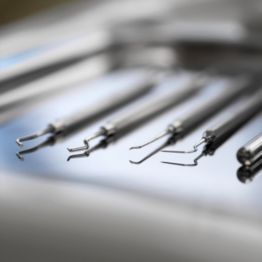 Close-up of dental tools : Stock Photo