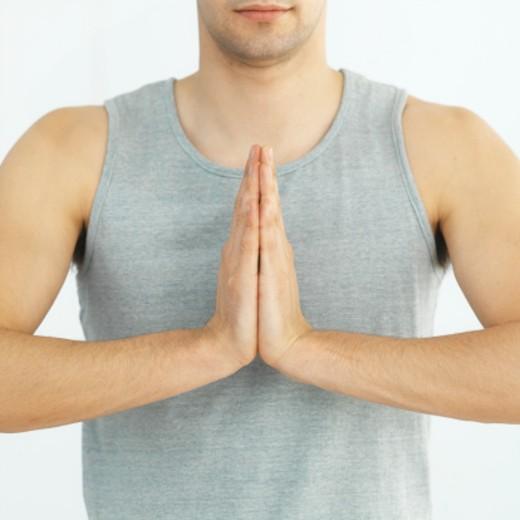Stock Photo: 1491R-1071251 Man doing yoga