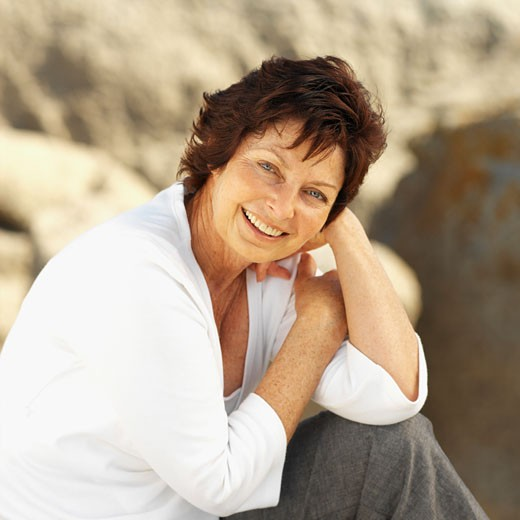 Stock Photo: 1491R-1073364 Close-up of mature woman smiling