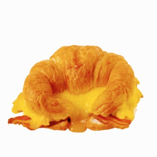 Close-up of a breakfast croissant : Stock Photo