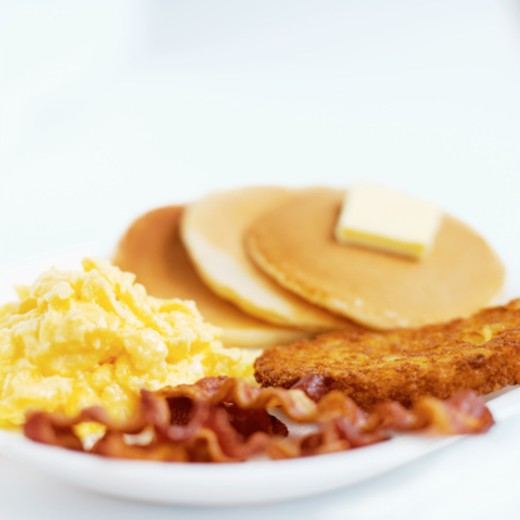 Close-up of a breakfast plate : Stock Photo