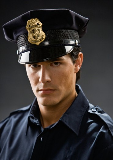 Young security guard, portrait : Stock Photo