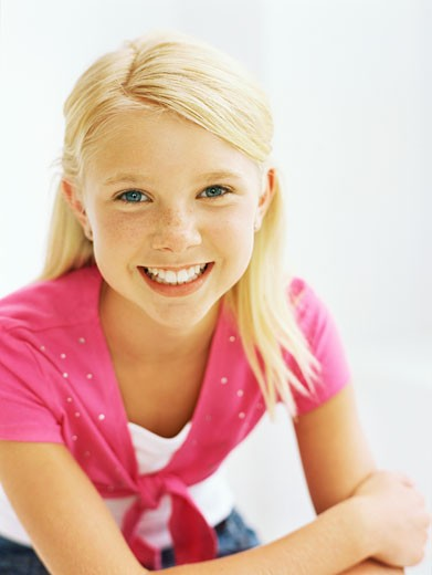 portrait of a girl smiling : Stock Photo