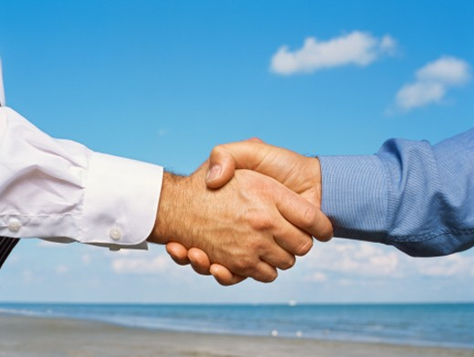 Close-up of a handshake : Stock Photo