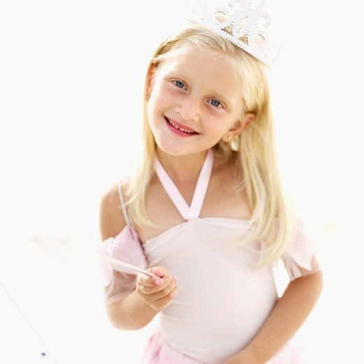 Stock Photo: 1491R-1103324 Portrait of a girl (6-8) dressed as a fairy