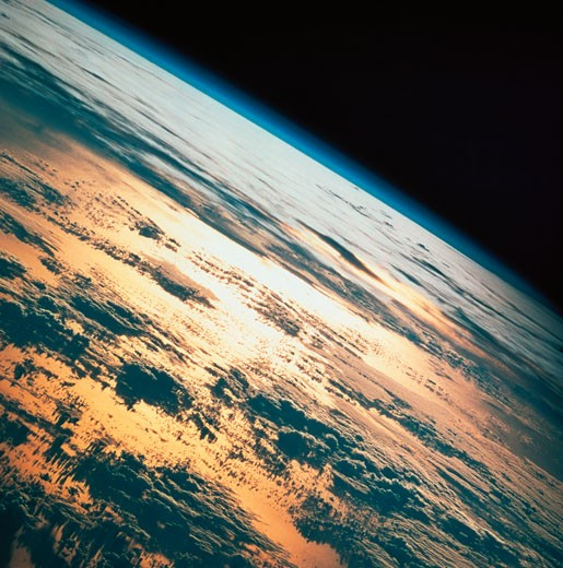 Stock Photo: 1491R-1109119 close-up of a space image of the earth