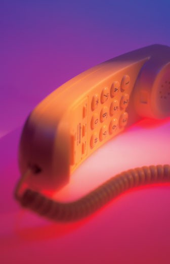close-up of a the receiver of a telephone : Stock Photo