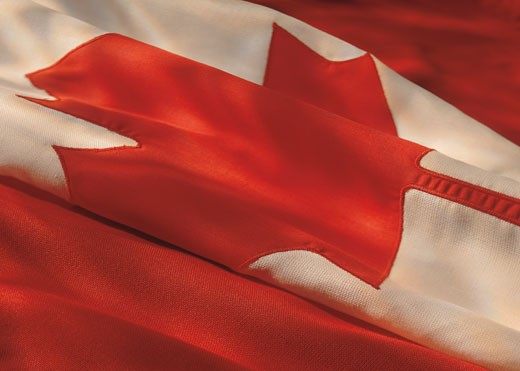 the flag of Canada : Stock Photo