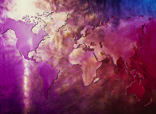 close-up of the surface of a globe : Stock Photo