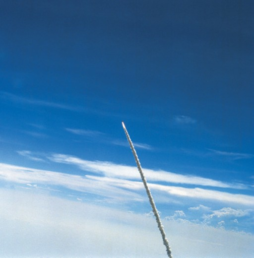 Spacecraft ascending into space : Stock Photo